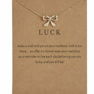 🍀 Luck Make A Wish Gift Card Necklace